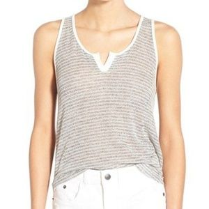 Sheer Striped Loose Tank perfect with a bralette!